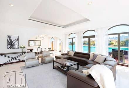 فیلا 5 غرف نوم للايجار في نخلة جميرا، دبي - Upgraded | Private Pool & Beach | Bills Inc.