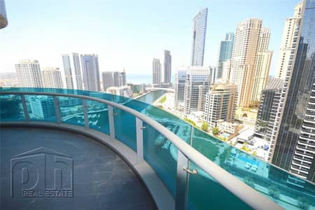 فلیٹ 2 غرفة نوم للايجار في دبي مارينا، دبي - Partial Marina View | Vacant | Unfurnished