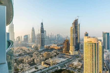 فلیٹ 2 غرفة نوم للبيع في وسط مدينة دبي، دبي - High-floor apt with stunning Burj Dubai