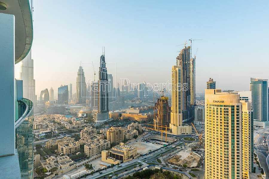 High-floor apt with stunning Burj Dubai