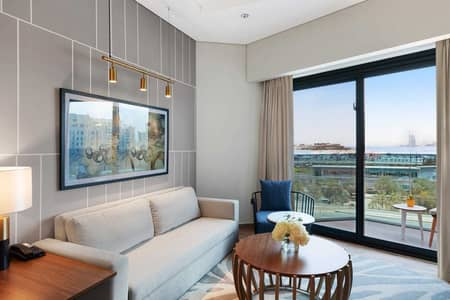 شقة فندقية 2 غرفة نوم للايجار في نخلة جميرا، دبي - Furnished | Serviced Apartment | Bills included