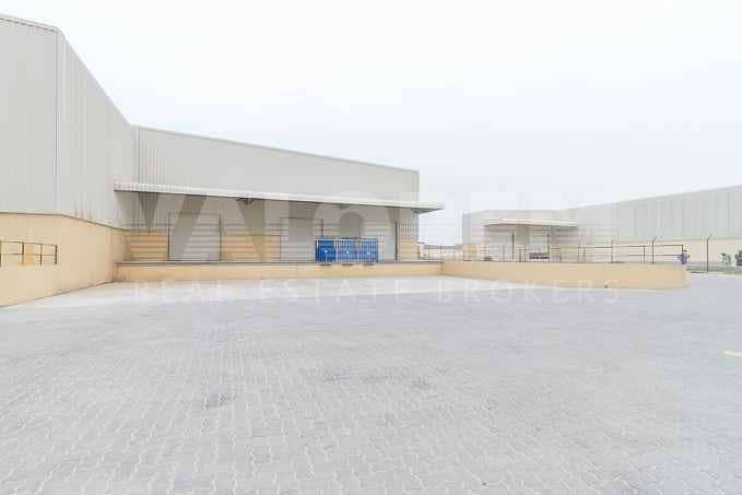 2 Warehouse with Racks for Storage and Logistics in JAFZA