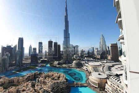 شقة فندقية 1 غرفة نوم للبيع في وسط مدينة دبي، دبي - High Floor | Full Burj Khalifa and Fountain View