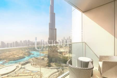 2 Bedroom Flat for Rent in Downtown Dubai, Dubai - Burj Khalifa and Fountain view   Monthly Billing