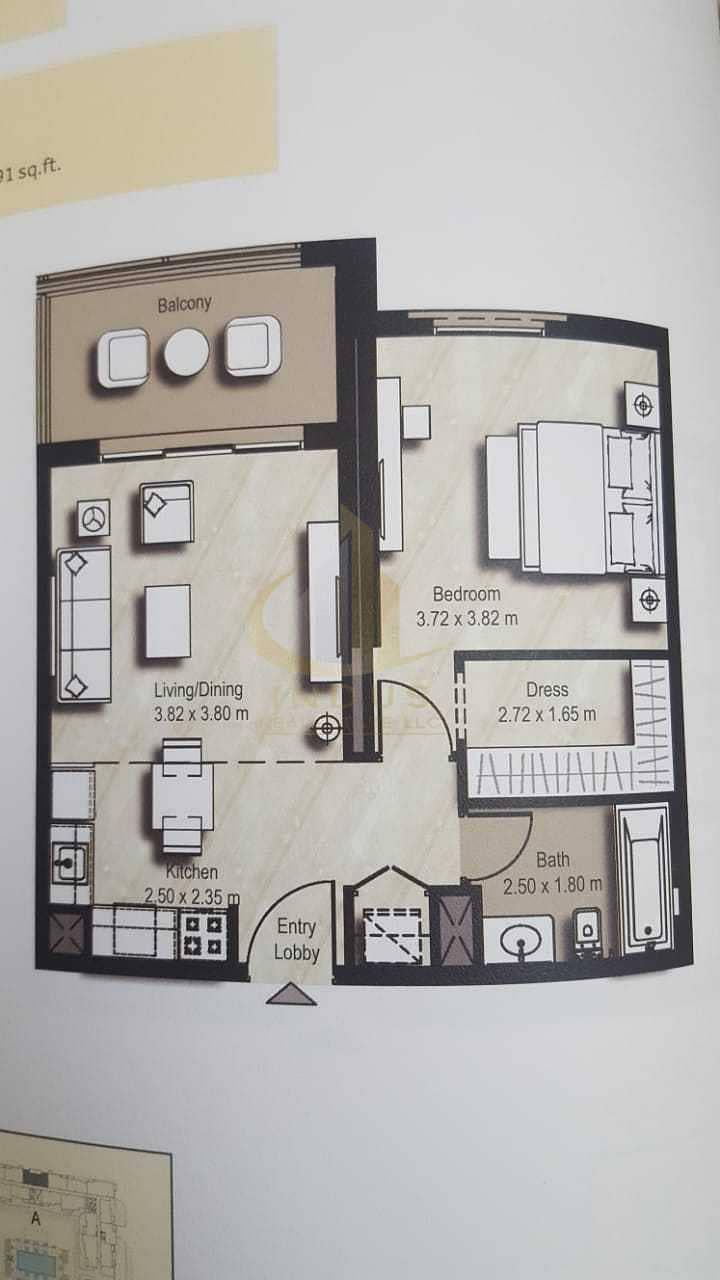 14 Pool View | Spacious 1 Bedroom | Mid floor | Nice layout
