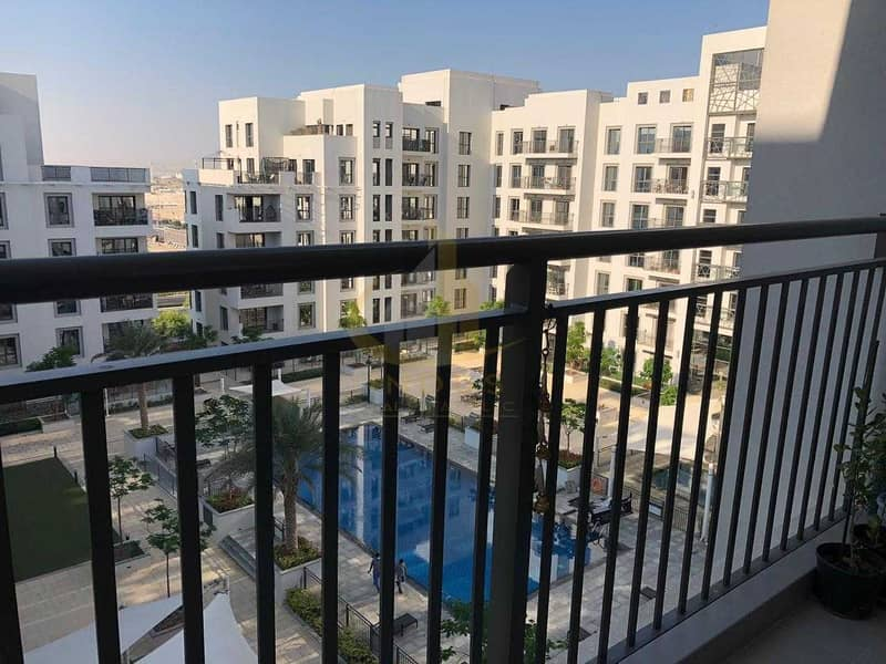 Pool View | Spacious 2 Bedroom with Balcony