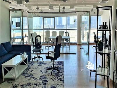 Office for Rent in Business Bay, Dubai - Furnished | Fitted and Partitioned | Lower Floor