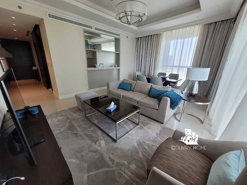 2 Fully Furnished   High Floor   Burj &Fountain; View