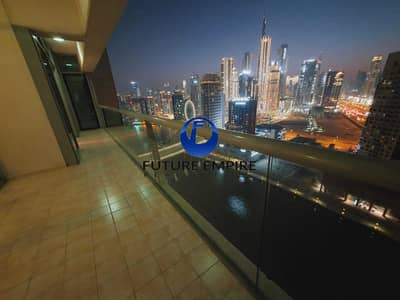 2 Bedroom Apartment for Rent in Business Bay, Dubai - Burj Khalifa + Canal View | Maids Room | High Floor