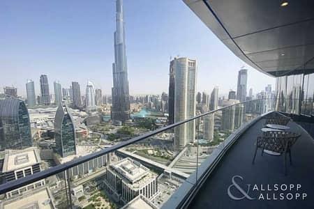 2 Bedroom Apartment for Rent in Downtown Dubai, Dubai - High Floor | 2 Beds | Burj Khalifa View