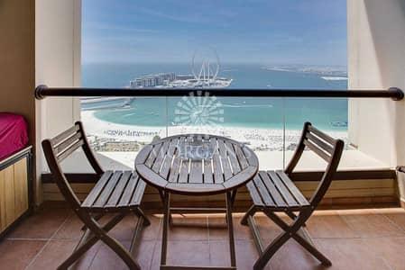 شقة 2 غرفة نوم للايجار في جميرا بيتش ريزيدنس، دبي - Full Sea View/Loft 2BR plus study/JBR