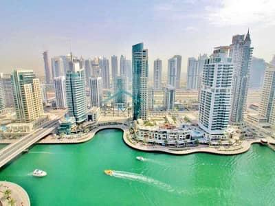 فلیٹ 2 غرفة نوم للايجار في دبي مارينا، دبي - FULLY FURNISHED   FULL MARINA VIEW