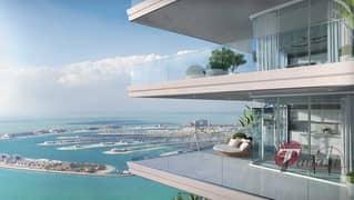 شقة في مارينا فيستا إعمار الواجهة المائية دبي هاربور 2 غرف 3199999 درهم - 5101940