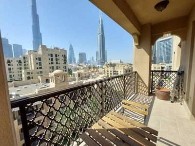 2 Bedroom Flat for Rent in Old Town, Dubai - Open Plan | Bright | Burj Khalifa View