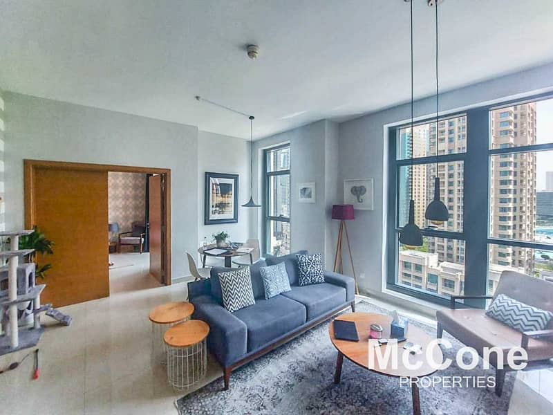 Fully Furnished | Partial Fountain and Blvd Views