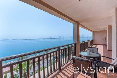 فلیٹ 2 غرفة نوم للبيع في نخلة جميرا، دبي - Full Sea and Burj Al Arab View | 2 Bedroom