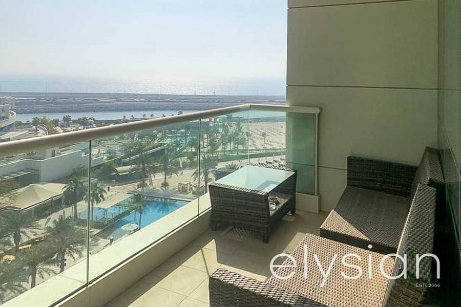 Spacious Layout   Furnished   Sea and Pool View