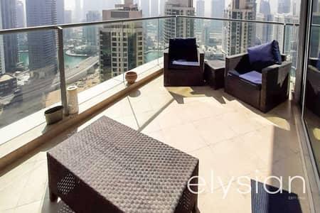 شقة 2 غرفة نوم للايجار في دبي مارينا، دبي - Marina and Sea View   Spacious   Unfurnished
