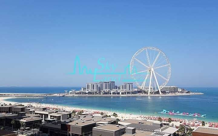 JBR Penthouse|4-BR|2 Terraces|Full Sea View|Upgraded|Furnished