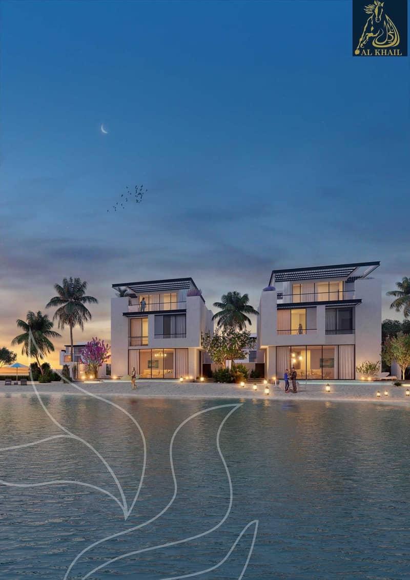 19 Own Lavish 6BR Independent Sea Villas In Sharjah Waterfront City