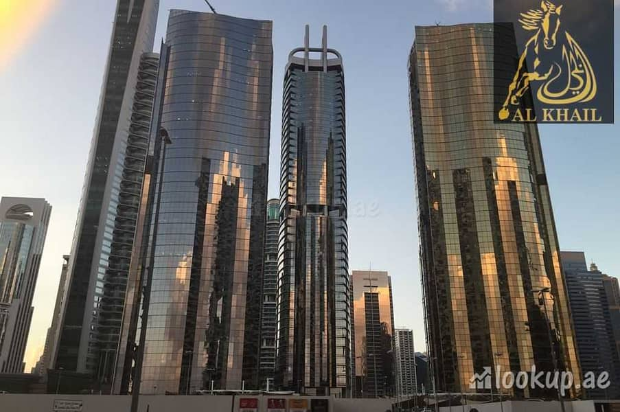 Splendid Fully Fitted Office for sale in Gold Tower Best Location Stunning View