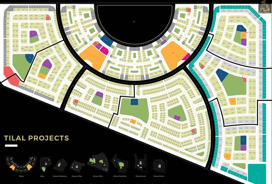 11 Mixed Land In Tilal City Of Sharjah Zero Service Charge