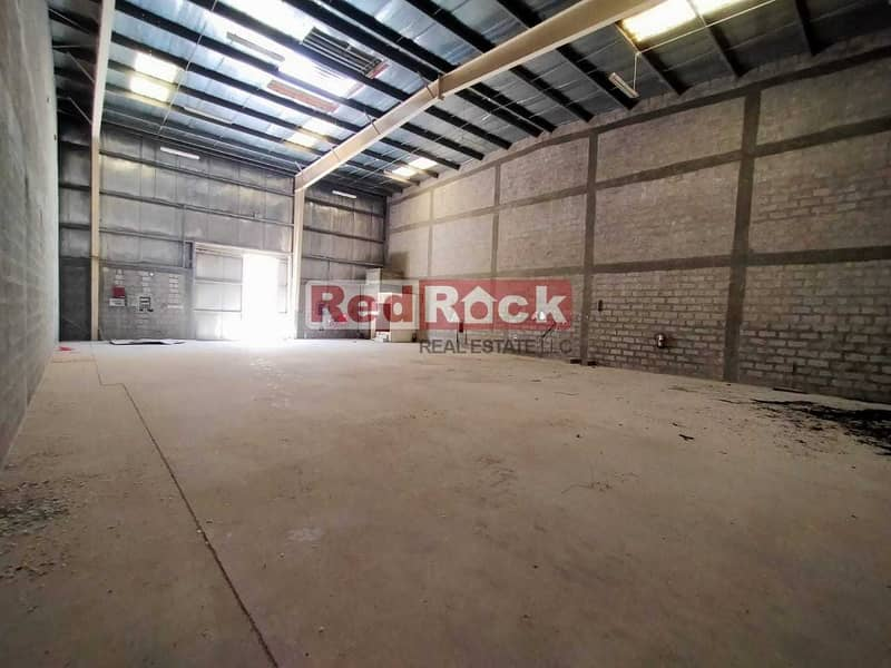 2 Commercial 3200 Sqft Warehouse with Washroom in Jebel Ali