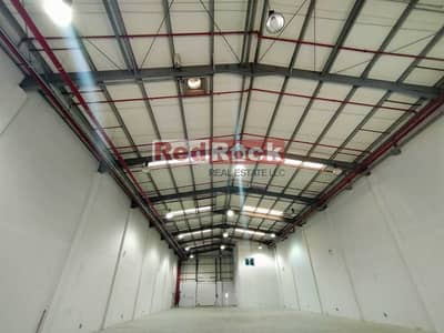 Warehouse for Rent in Jebel Ali, Dubai - 8798 Sqft Warehouse with 50 KW Power and Office in Jebel Ali