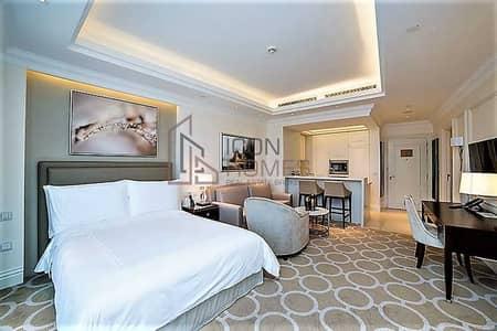 شقة فندقية  للايجار في وسط مدينة دبي، دبي - HIGH FLOOR| BEST UNIT | WITH STUNNING BURJ VIEW| 12 cheques