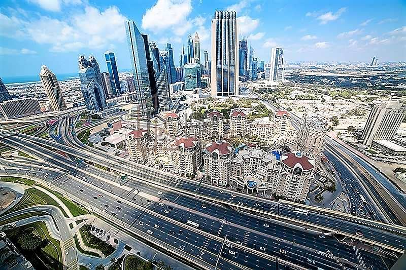 18 HIGH FLOOR  BEST UNIT   WITH STUNNING BURJ VIEW  12 cheques