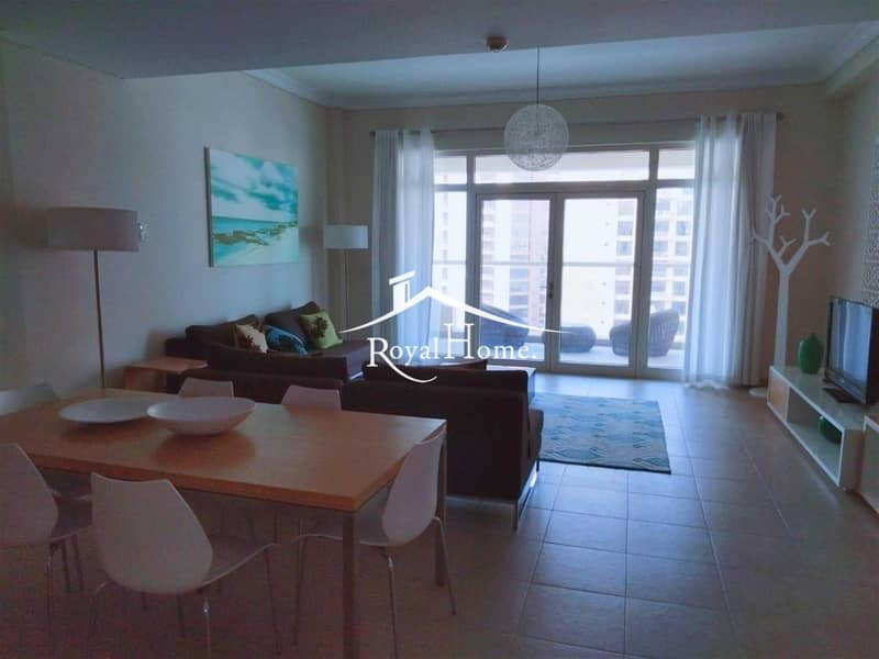 2 Amazing 1 Br Apartment with Sea & Burj Al Arab View. Fully furnished. Chiller Free/ Beach Access