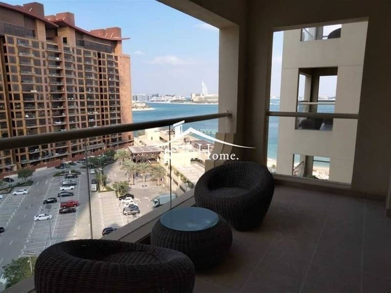 10 Amazing 1 Br Apartment with Sea & Burj Al Arab View. Fully furnished. Chiller Free/ Beach Access