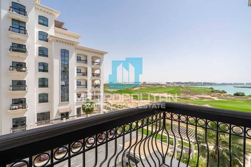 Elegant Layout  Partial Sea and Golf View  Balcony