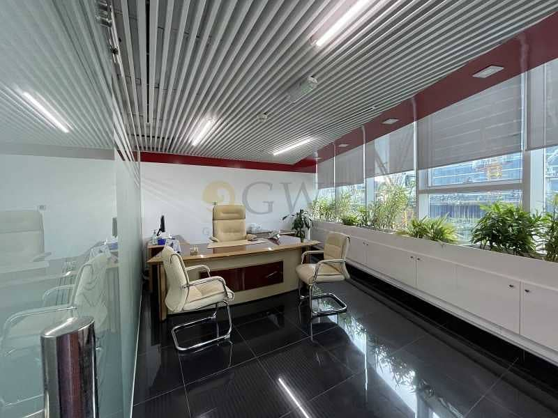 Upgraded interiors Fitted office in Business Bay .