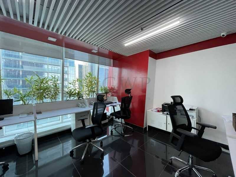 2 Upgraded interiors Fitted office in Business Bay .