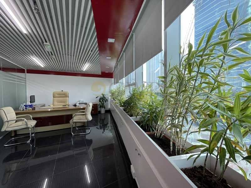 15 Upgraded interiors Fitted office in Business Bay .