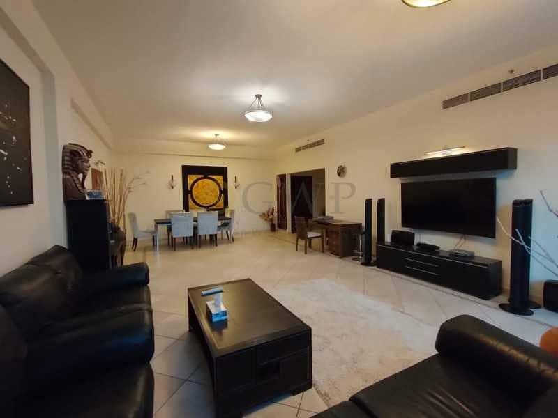 3-Bedroom Fully Furnished apartment Dubai Marina .