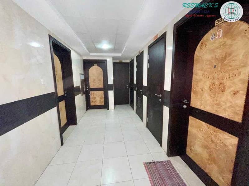 10 SPACIOUS 1 B/R HALL FLAT WITH SPLIT DUCTED A/C IN AL GHUWAIR AREA