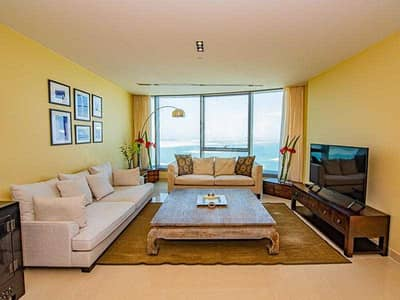 2 Bedroom Apartment for Rent in Al Reem Island, Abu Dhabi - Fully Furnished | Vacant | Sea View on High Floor