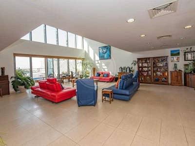 فیلا 6 غرف نوم للبيع في شاطئ الراحة، أبوظبي - Beautiful sea view podium villa with private pool
