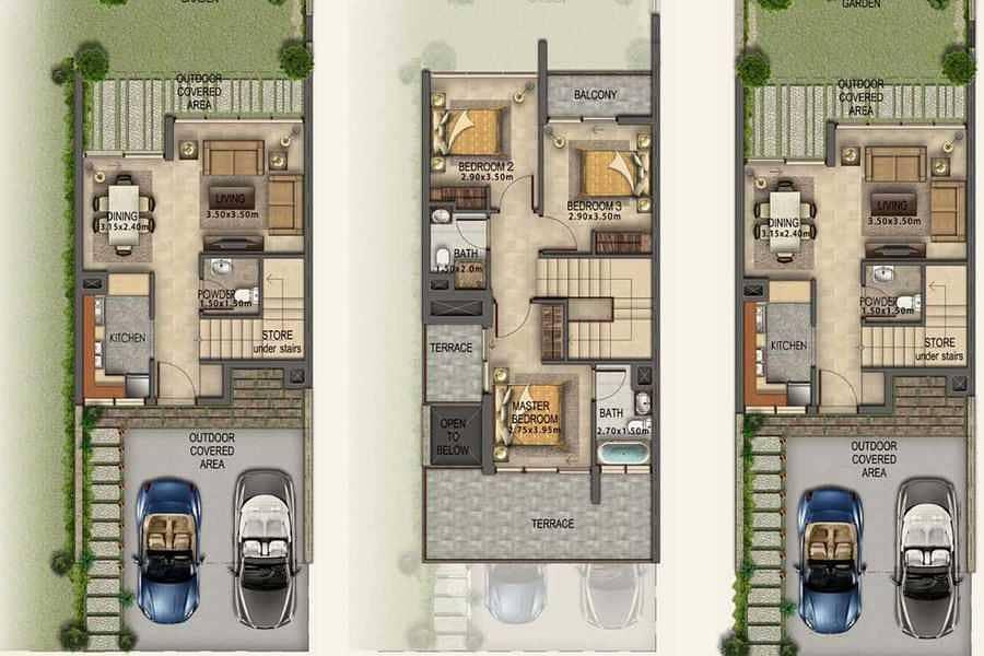 3 3BR Villa | fully furnished | Resale Akoya Oxygen