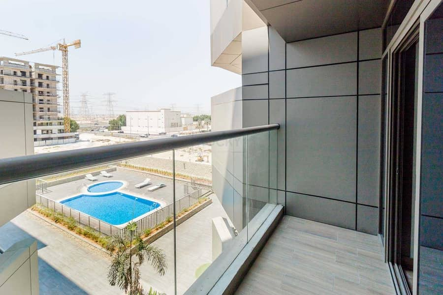 2 MONTHS FREE!! 550 Sq. Ft. Studio with Equipped Kitchen |  Balcony with Pool View + Amazing Amenities | JVC