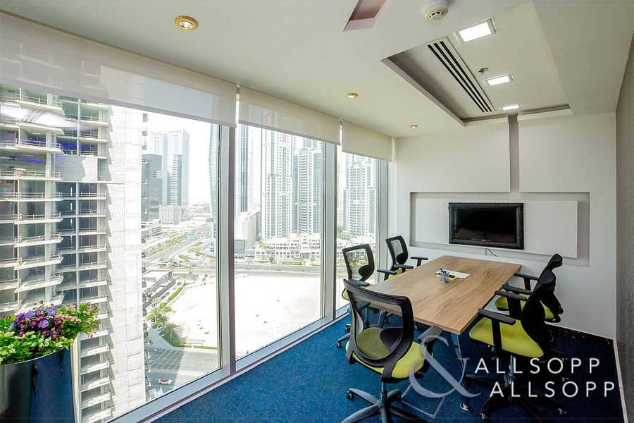 Furnished Office  2 Parking Spaces  High Floor