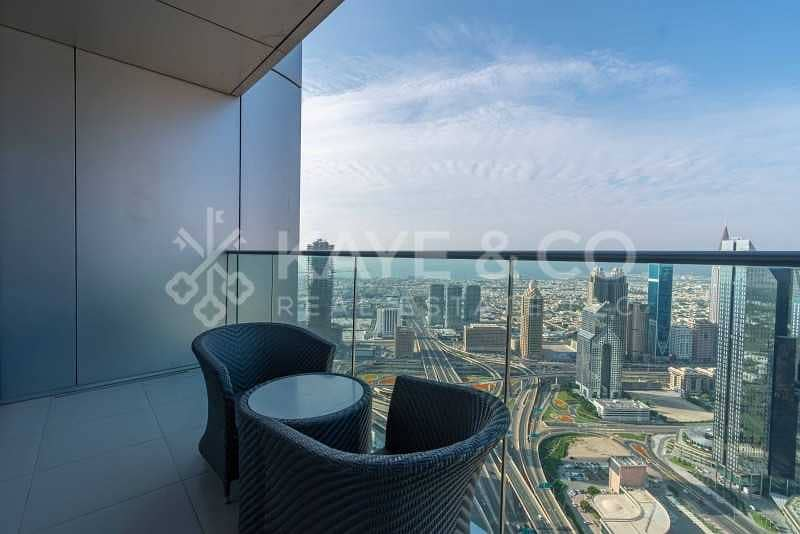 DIFC and Sea View   High Floor   Fully Furnished