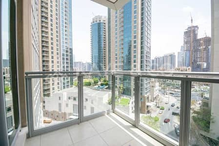 1 Bedroom Apartment for Rent in Downtown Dubai, Dubai - Unfurnished | Low Floor | Balcony | Downtown View