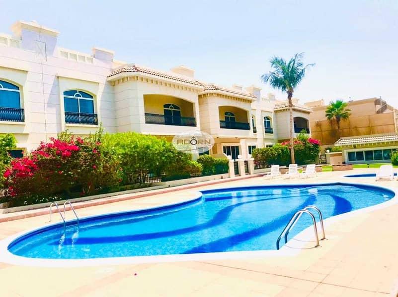 2 Spacious 4 bedroom+study villa with  pool/gym umm suqiem 2
