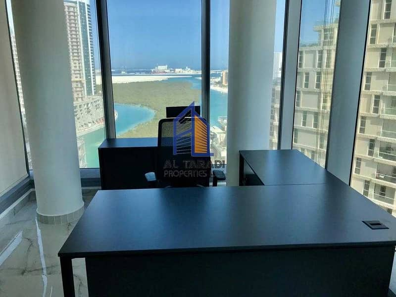 2 Fully Furnished Office with 3 Parking /Heavenly Views