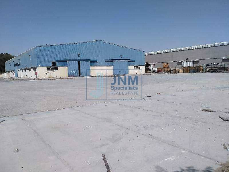 2 warehouse with commercial Land for Rent in al quoz