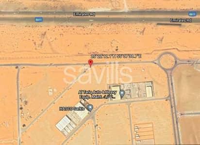 ارض تجارية  للبيع في السجع، الشارقة - Plot for Sale in Sajaa with direct access to E611 highway