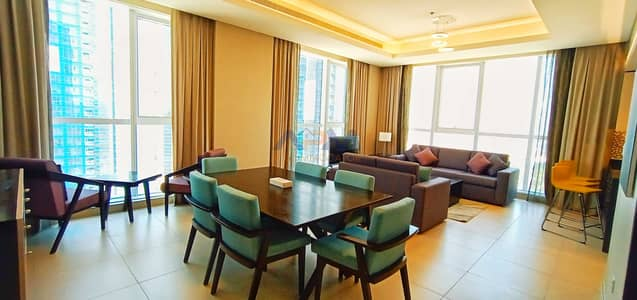 2 Bedroom Apartment for Rent in Corniche Area, Abu Dhabi - Fully Furnished | 2 BHK | Sea View |